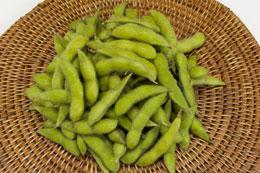 甘い香りが特長の新潟産茶豆
