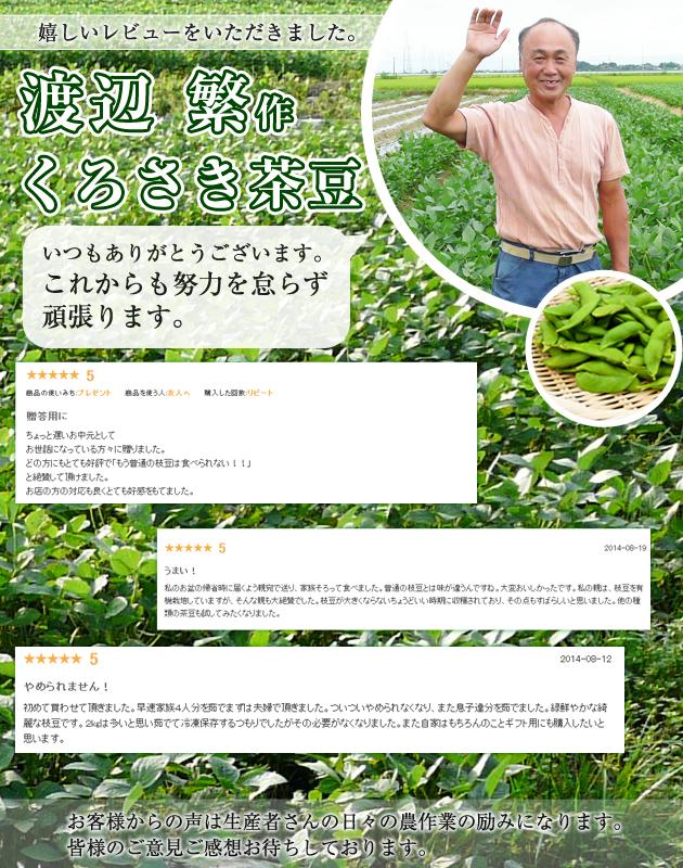 毎年大人気の渡辺さんのくろさき茶豆